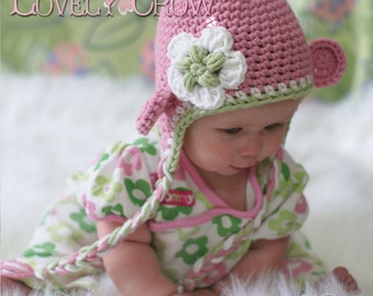 Monkey Hat Crochet Pattern Monkey Hat for Babies or Toddlers  Bulky Yarn Monkey Earflap Beanie