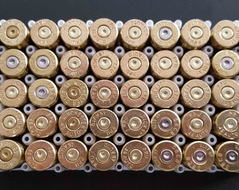 Bullet Steampunk Spent Brass Shells 9mm Caliber Jewelry 50 Pieces