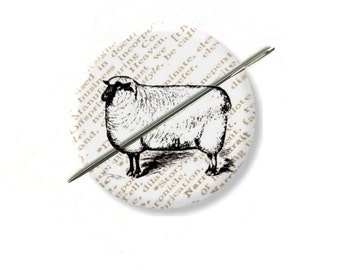 Sheep needle minder magnet cross stitching sewing tool sewing notion wife gift under 10 stocking stuffer farm house