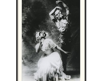 "Vintage Art Photography with Vaslav Nijinsky and Tamara Karsavina 8""x12"""