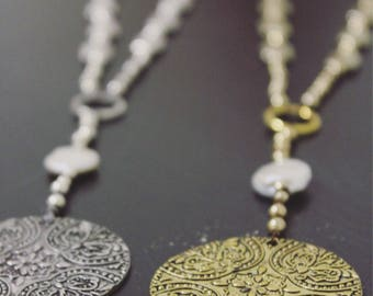 Antique Medallion Y Necklace