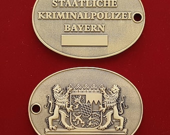 Obsolete German Bavarian Police Criminal Investigator Badge