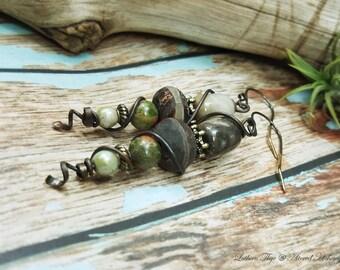 OldWood - Art Jewelry Earrings