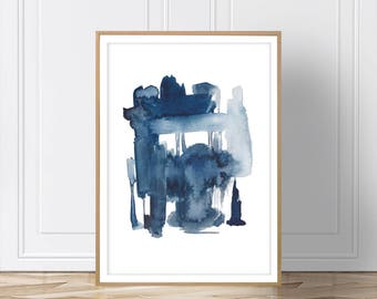 Blue Wall Art , Blue Abstract ,Printable Art ,Blue Print ,Art ,Minimalist Art ,Wall Art ,Watercolor Art ,Prints ,Scandinavian ,Wall Art, Art