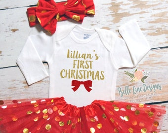 My First Christmas Baby Girl | Baby girl Christmas | First Christmas baby | Baby Girl First Christmas | Girl 1st Christmas |  131