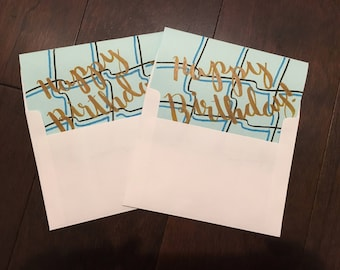 Teal 'Happy Birthday!' Cards - Set of 2
