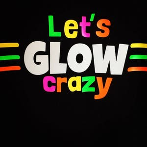Glow in the dark party shirts