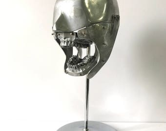 Aluminum Dental Manikin with Full Aluminum Dental Teeth Set Columbia Dentoform Vintage Medical