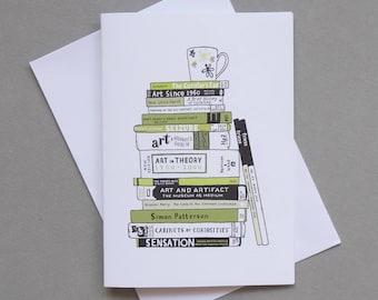 Bookworm Zoe greetings card