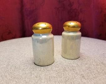 Vintage Iridescent Salt & Pepper Shakers Japan