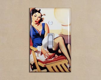 Vintage Pin Up Girl - Light Switch Plate Covers Home Decor Outlet