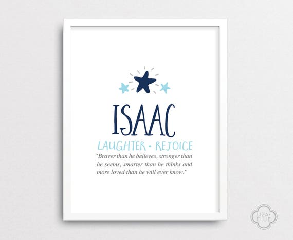 Isaac baby name meaning personalized baby gift custom negle Images