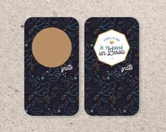 Scratch - kisses mini card