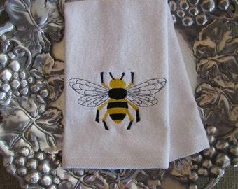 Napoleonic Bumble Bee - Fingertip Velour Bathroom Towel 11x18 - JD Designs