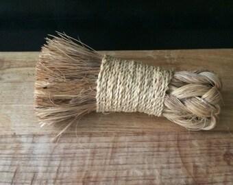 Vintage Braided Broom with Rope/ Decorative Item