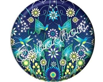 1 cabochon 30mm glass cabochon flower image shown