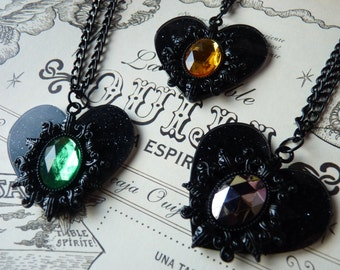 Heart Necklace Gothic