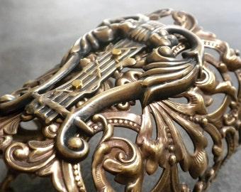 Statement Cuff Celtic Lyre Jewelry Harp Bracelet