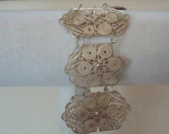 Vintage sterling filgree bracelet