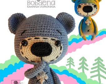Teddy bear amigurumi crochet pattern PDF instant download bear pattern Amigurumi toy pattern Crochet teddy tutorial Crochet softie bear pdf