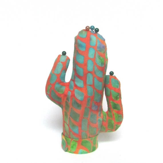 Aqua Batik Short CACTUS-Stand ~ Ready to Ship