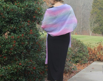 Such a Flirt ... hand painted silk crepe de chine wrap, shawl