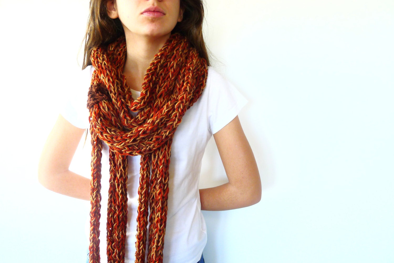 Collar bufanda de lana. Bufanda circular. Bufandas de punto
