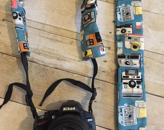 Padded Camera Strap Cover with Pocket for Lens Cap   Camera Fabric