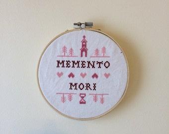 Memento Mori cross stitch