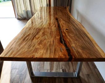 Huge Live Edge Dining Table - MADE TO ORDER