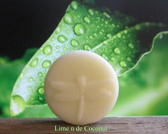 Lime n de Coconut Organic Lotion Bar 100% Natural Pocket Size 2 oz.