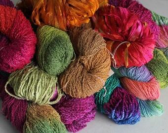 Hand dyed Yarn Grab Bag