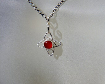 Cross Pendant, Onyx Pendant, Opal Pendant, Carnelian Pendant, Filigree Cross, Small Cross, Cross Jewelry, Star Jewelry, Made to Order