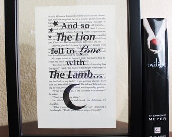Twilight Saga • The lion fell in love • Book Quote • Twilight sparkle • Bella Swan • twilight movie • Vampire gift • YA fans •