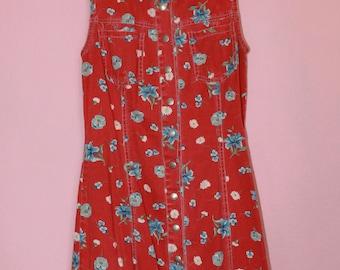 vintage paris blues 90s mini dress