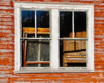 Old Piano, Abandoned House in Maine, Maine Photography, Music Print, Piano print, Abandoned House