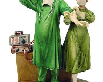 Ideal Gift for Surgeons - Handmade Italian Capodimonte Porcelain Surgeon Figurine