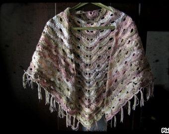 Handmade Crochet triangle scarf