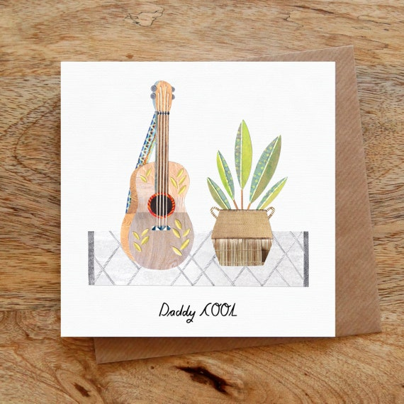 Daddy Cool Greeting Card Dad Birthday Card Dad Card Father