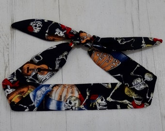 Baby Head Scarf - Black Mexican Skeleton - Day of the Dead - Cotton Bib Baby Shower Bandana Bib Boy or Girl Gift