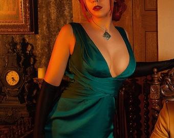 The Witcher Cosplay Triss Merigold Noir woman formal dress