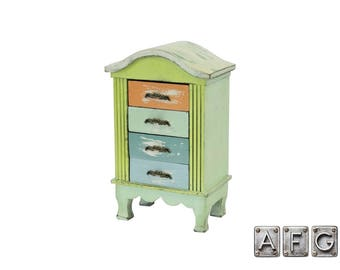Cabinet Shabby chic 4 drawers