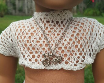 American girl doll bike necklace