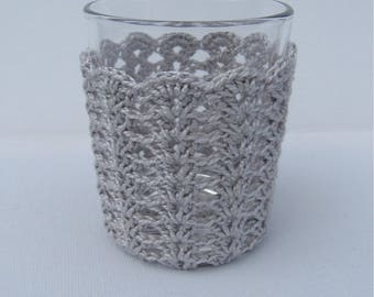 SALE Crochet candle hollder