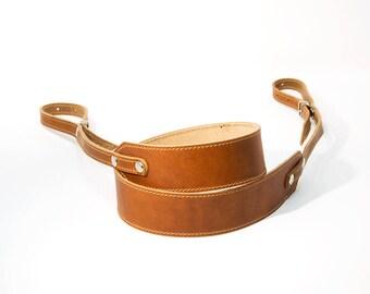 Camera Strap, Leather Camera Strap, Personalized Camera Strap, Horween Camera Strap with stitching