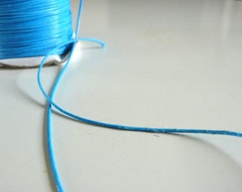 1 m oiled blue imitation leather cord