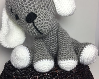 Crocheted puppy