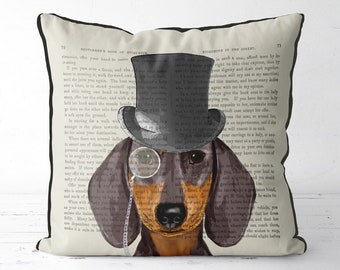Dachshund pillow dog pillow cover dog lover gift doxie gift pet gift pet pillow girlfriend gift coworker gift uk shop funny dog gift