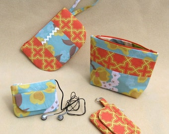 Zip Pouches A to S PDF Sewing Pattern Instant download