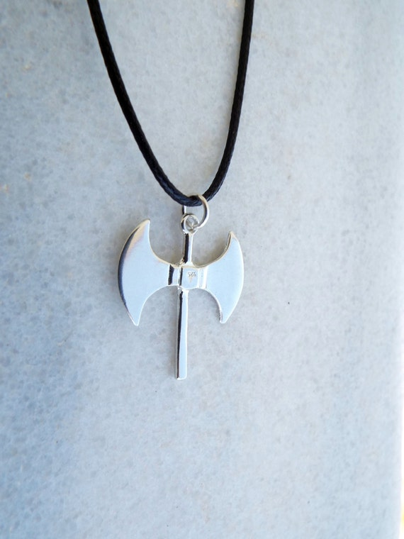 Labrys Pendant Silver Double Axe Necklace Symbol Sterling